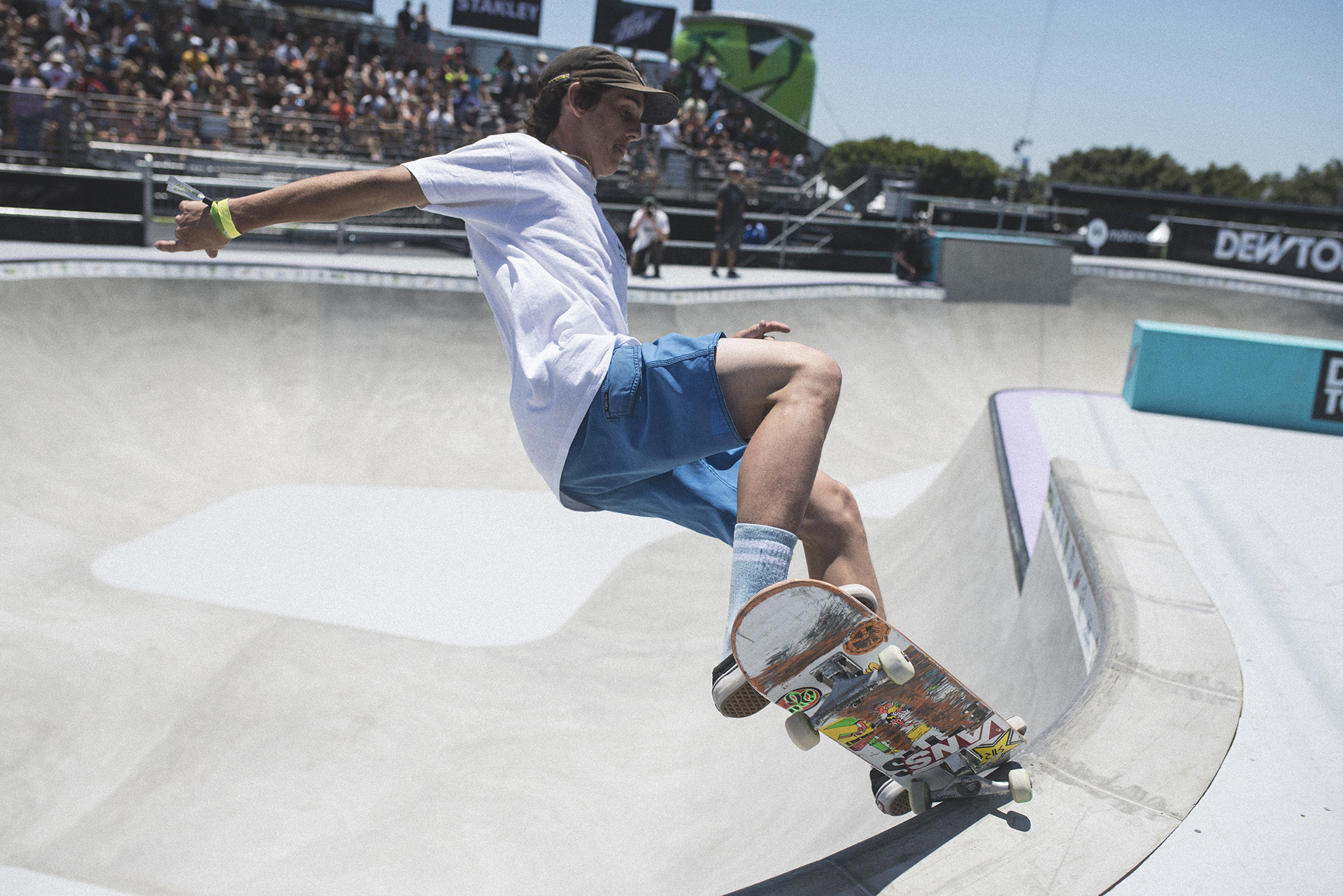Skateboarder at Dew Tour in Long Beach